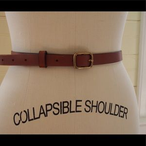 Genuine leather J Crew belt